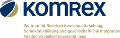 Logo KomRex Zentrum für Rechtsextremismusforschung, Demokratiebildung und gesellschaftliche Integration
