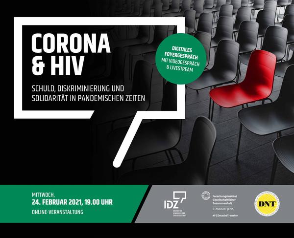 Digitales Foyergespräch HIV und Corona Institut für Demokratie und Zivilgesellschaft