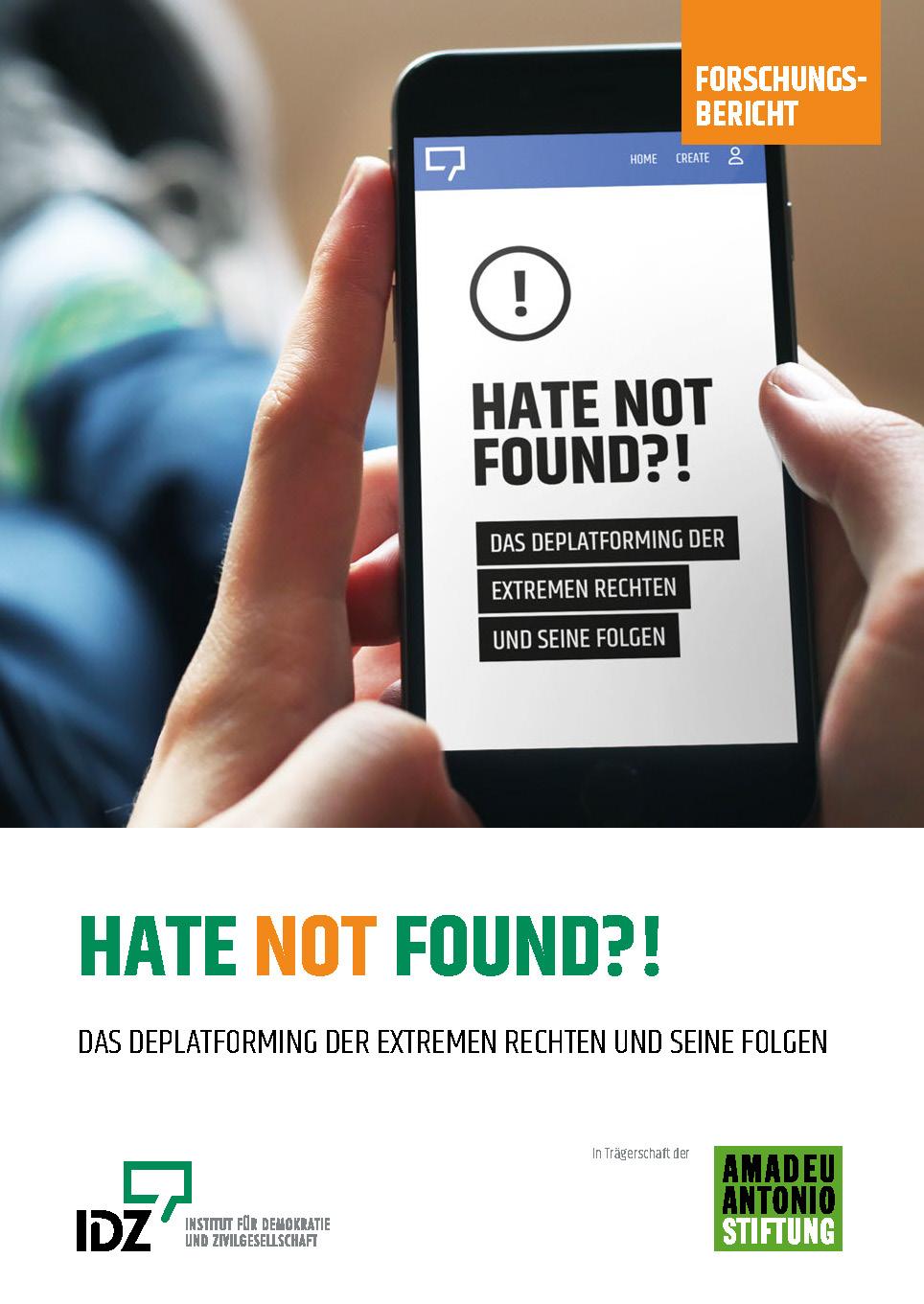 Forschungsbericht Deplatforming Hate not found Institut für Demokratie und Zivilgesellschaft