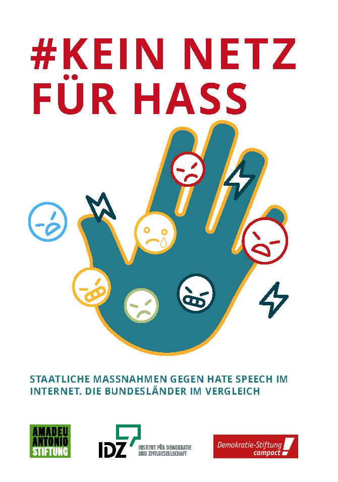 Cover Studie Kein Netz für Hass_Bundesländervergleich Hate Speech